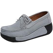 514a176a728dc Zapatos de Náuticos Plataforma para Mujer Otoño Invierno 2018 Moda PAOLIAN  Zapatillas de Cuña Terciopelo con