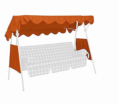 Angerer 804/11 Sonnendach für Hollywoodschaukel PE-Gewebe, 200 x 120 cm,Terracotta