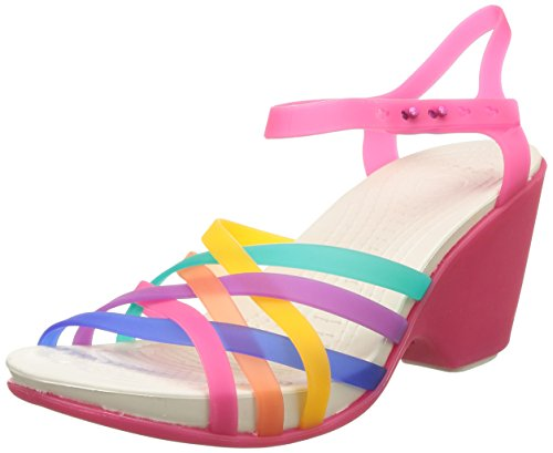 Crocs Women's Huarache Sandal Wedge W Multi and Candy Pink Rubber Fashion Sandals - 5 UK  available at amazon for Rs.2747