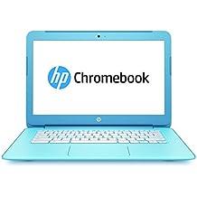 """HP Chromebook 14-ak004nf PC Portable14"""" Bleu (Intel Celeron, 4 Go de RAM, 16 Go, ChromeOS)"""