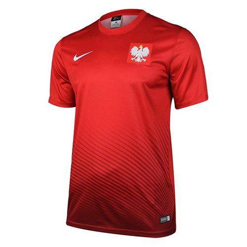 Nike Kinder Pol YTH HM Supporters Tee Euro 2016 Poland Trikot, Rot/Weiß, M