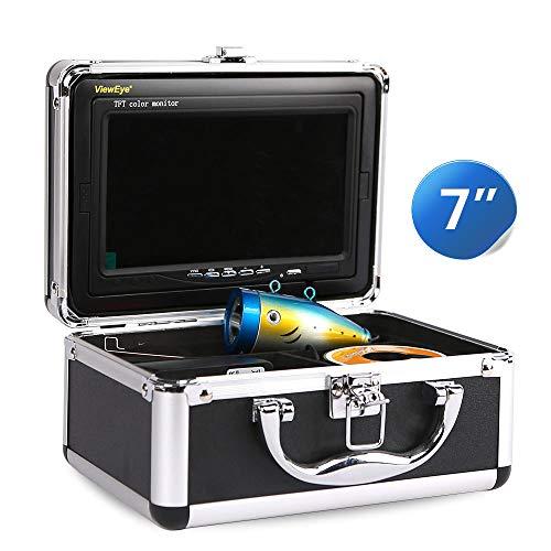 WENHU 15 Mt Infrarot LED DVR-7 Zoll Video Fish Finder 1000TVL Steuerbare Lichter U-Boot Angeln Kamera Kit Ice Lake Unterwasser Fisch Cam (Lichter Angeln Boot)