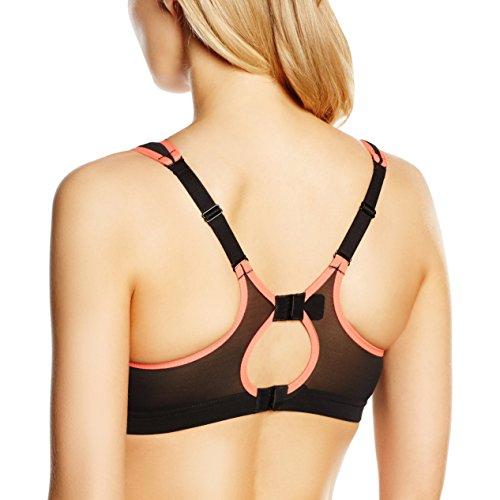 Shock Absorber - Active multi sports support - Soutien-gorge de sport - Sans armature - Uni - Femme Noir/gris - Black/Print