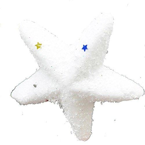 YUYU Vacanza regalo natale ornamento pendente neve schiuma stella a cinque punte (12)