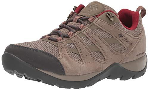 Columbia Redmond V2, Zapatos de Senderismo Impermeables para Mujer, Beige Pebble, Beet 227, 39 EU