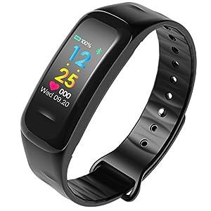 Smart Armband Herzfrequenz-Blutdruckmessgerät Bluetooth Schrittzähler Wasserdicht Sport Armband