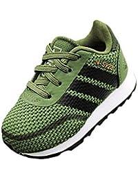 brand new 96775 4e8d3 adidas Originals B37154 Scarpa Ginnica Bambino Verde 20