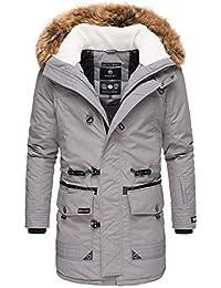 Marikoo Herren Winter Jacke Parka Mantel Warm Lang Trendjacke Fellkragen  ANS-M31 8648054e77