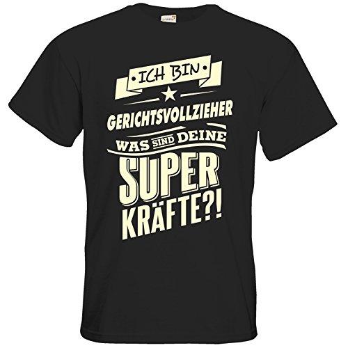 getshirts - RAHMENLOS® Geschenke - T-Shirt - Superkraefte Gerichtsvollzieher - black M