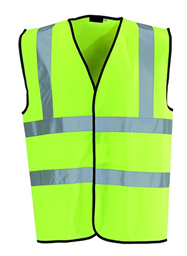 Good Deals Online Kids Sized Yellow/Green Hi Viz Safety Vest with Reflective Band Waistcoat Jacket Top Durable Light Weight Fabric - Safety First Stay Safe with this Vest - Keep your kids safe walking home from school