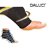 DALUCI All-Day Compression Socks For Plantar Fasciitis Pain Relief Ankle Support (1 Pair) (X-Large)