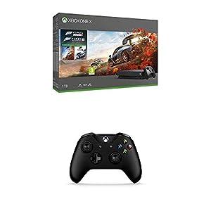 Microsoft Xbox One X, schwarz – Forza Horizon 4 & Forza Motorsport 7 Bundle + Microsoft Xbox Wireless Controller, Schwarz