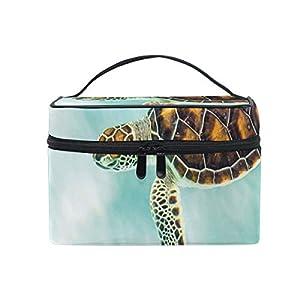419S3gYSW3L. SS300 ZORMIEY Grande borsa cosmetica, borsa per il lavaggio, custodia per donna,Tartaruga sveglia del bambino che nuota acque astratte Serene Nature