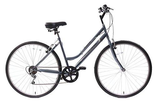 "419S4 cpW4L - Professional Premium Womens 700c Hybrid Commuter Bike 18"" Frame 6 Speed Grey"
