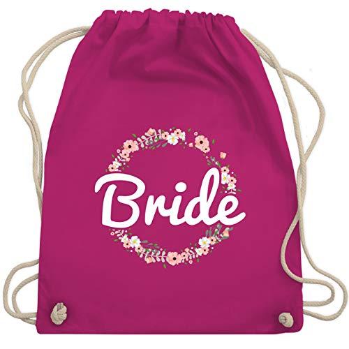 JGA Junggesellinnenabschied - Bride Blumenkranz - Unisize - Fuchsia - WM110 - Turnbeutel & Gym Bag