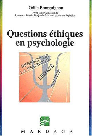 Questions éthiques en psychologie