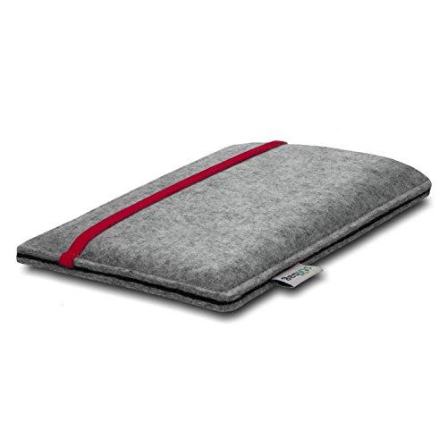 Stilbag Filztasche 'LEON' für Apple iPhone 6s - Farbe: violett-hellgrau rot