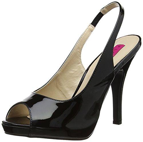 Pleaser Pink Label Damen Eve-04 Plateau, Black (Blk Pat), 47 EU 5 Zoll Stiletto Heel Platform