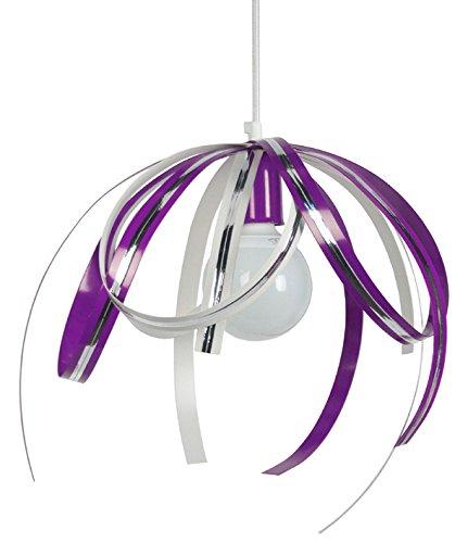 tosel-13880-suspension-loop-2-acier-100-w-e27-violet-chrome