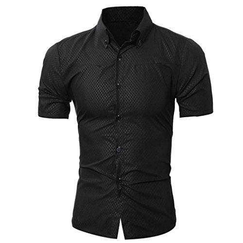 Abbigliamento uomo, ashop t shirt uomo manica corta, camicetta a manica corta da uomo con stampa t-shirt, t-shirt da uomo in tinta unita (xl, nero)