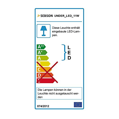 SEBSON LED Lichtleiste warmweiß 60cm, LED Leiste 11W, 1000lm, LED Unterbauleuchte erweiterbar