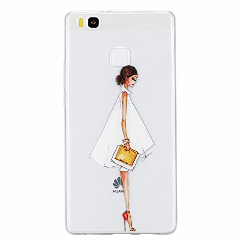 Huawei P9 Lite hülle,Huawei P9 Lite Case, Cozy Hut Kratzfeste Plating TPU Silicone Case Schutzhülle Ultra Dünn Tasche für mit Huawei P9 Lite Hülle Case Transparent - Mode Frau