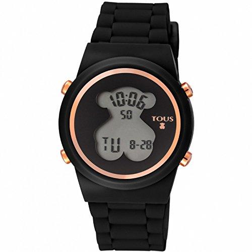 de0f23b93779 Reloj digital 700350320-Bear de acero IP rosado con correa de Silicona negra
