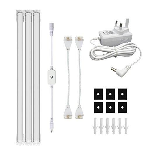 simpome LED Unter Schrank Licht Kit, dimmbar unter Zähler Beleuchtung, alle Zubehör im Lieferumfang enthalten 13.50 wattsW, 24.00 voltsV (Output Hardware Kit)