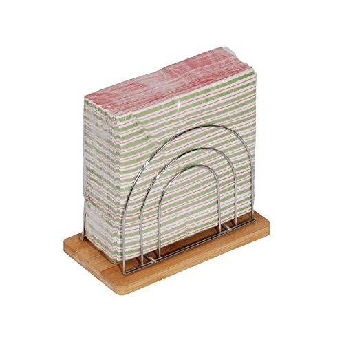 Un domo pv-bam-0901/Point-Virgule portatovaglioli da Tore Bleuz/é 18/x 18/x 5/cm bamb/ù marrone