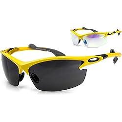 ARCTICA ® *PRO-ACTION* Sportbrille + 2 Wechselgläser / REVO BESCHICHTUNG