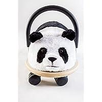 Wheely Bug 4260223371189 51100P Panda, Neuheit! kleiner Holzpanda mit strapazierfähigem Bezug auf Rollen mit Griff, ultimatives cooles Rutschauto, Spaß Car - Auto für jedes Kind
