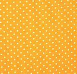 0,5m Stoff Punkte klein Gelb/ Weiß 100% Baumwolle Meterware 1,4m breit