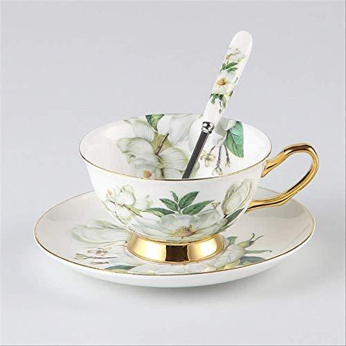 QYYDMKB Camellia Bone China Kaffeeservice Britisches Porzellan Teeservice Keramiktopf Milchkännchen...