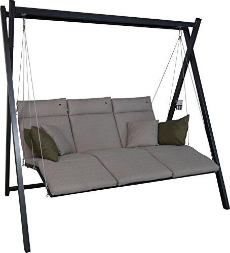 Angerer Relax Hollywoodschaukel 3-Sitzer Smart, sand, 220 x 150 x 210 cm, 7000/269 | Garten > Gartenmöbel > Hollywoodschaukeln | Angerer
