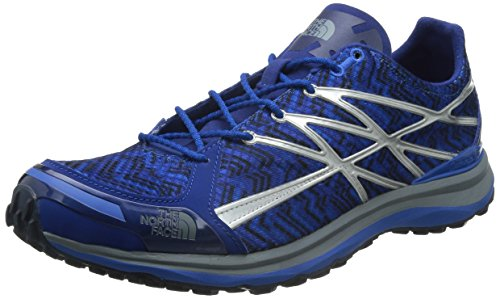 The North Face M Ultra TR II, Zapatillas de Running para Hombre, Azul (Limoges Blue / Monument Grey (Print), 43 EU
