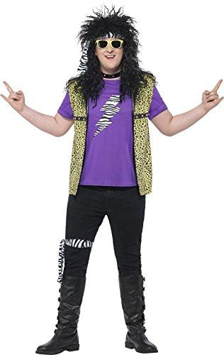Smiffys 44649XL - Herren 80er Jahre Rockstar Kostüm, Größe: XL, mehrfarbig (80 Rockstar Kostüme)