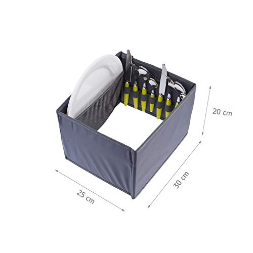 419SCn8svZL - Picknicker für Faltboxen faltbar Polyester Besteckkorb Geschirr Outdoor Party Camping Grillen Reise