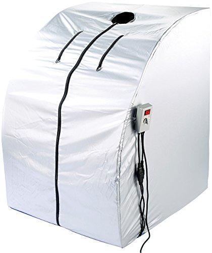 newgen medicals Mini Infrarotkabine: Tragbare Infrarot-Sauna V2 mit 2 Heizern, 1600 Watt (Mini Sauna für Balkon) - 3