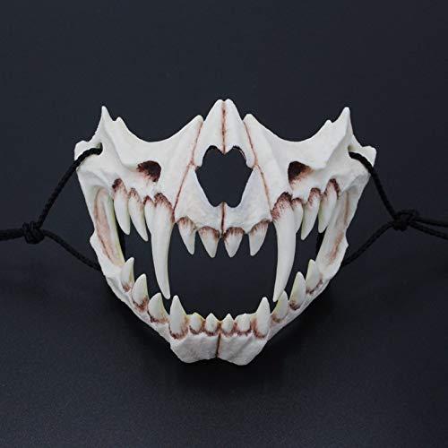 VAWAA Cosplay Harz Maske Der Japanische Drachen Gott Maske Umweltfreundlich Und Natürliche Latex Maske Für Tier Thema Party Tier Maske