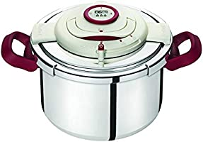 Tefal Stainless Steel Clipso Precision Pressure Cooker 10 liter, Silver P4411562
