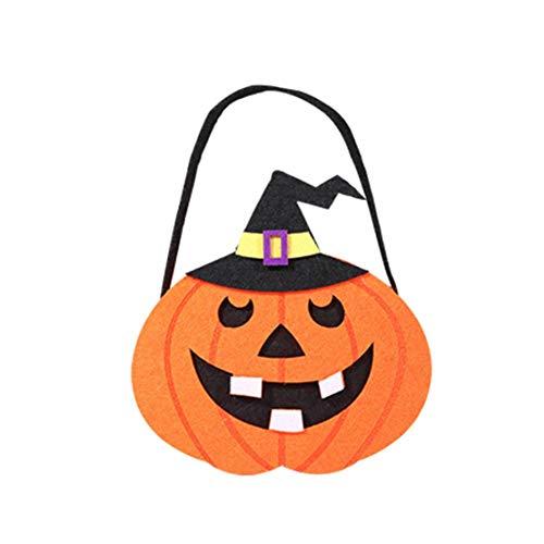 dchen Jungen Karikatur Lustig Gruselige Halloween Betteltasche | Hexen Kürbis Speicher Süßigkeit Tasche | Halloween Pumpkin Cartoon Candy Bags (G) ()
