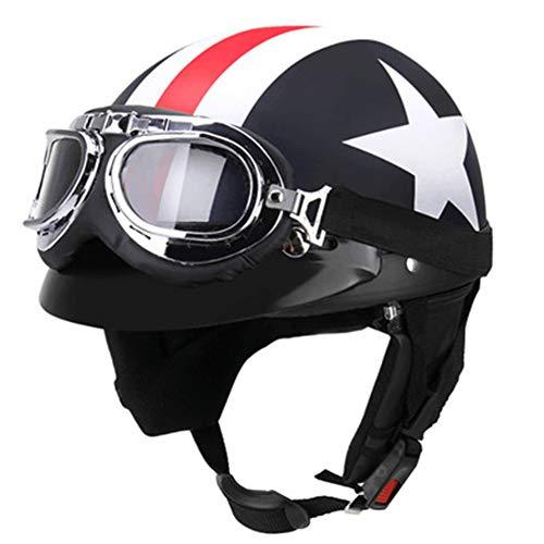 ZWL Casco, personalità, Quattro Stagioni, Unisex, Sicurezza e Protezione, Casco Mezzo, Adatto per Gli Sport all'Aria Aperta Come Il Pattinaggio Elettrico della Bicicletta del Motociclo,Black