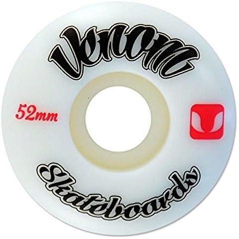 Venom Skateboard/Skate Logo Pro Ruote 50mm–53mm/100in uretano Adesivi in omaggio, bianco