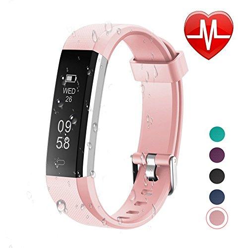 Letsfit Fitness Tracker Fitness Armband mit Pulsmesser Schrittzähler Uhr mit Fitnessaufzeichnung Schlafmonitor Kompatibel mit IOS und Android für Kinder Frauen Männer