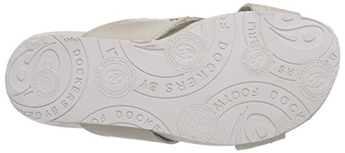 Dockers by Gerli 36br002, Chaussures de Claquettes mixte adulte Blanc - Weiß (offweiss 510)