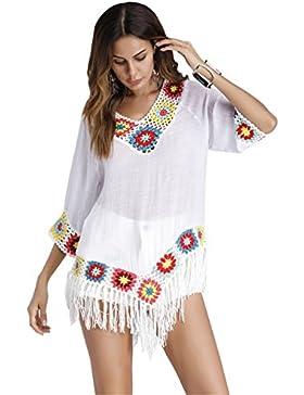 DaBag T-Shirt Donna Manica Corta Camicette Ragazze Scollo a V Magliette Estive Sexy Eleganti Tumblr Blusa Chiffon...