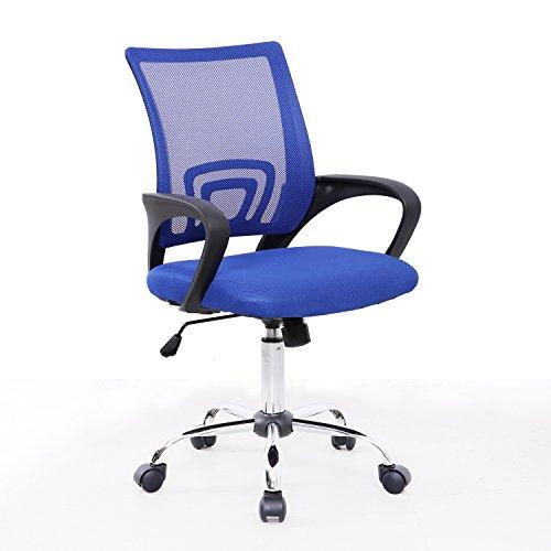 Bürostuhl Netzbezug Drehstuhl Schreibtischstuhl Stuhl Schreibtisch Schwarz (Blau) (Ein Stuhl Für Schreibtisch)