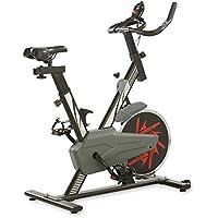 Preisvergleich für aktivshop Heimtrainer Indoor Bike Fitnessbike inklusive Display, Handpulsmessung und stufenlos einstellbaren Widerstand