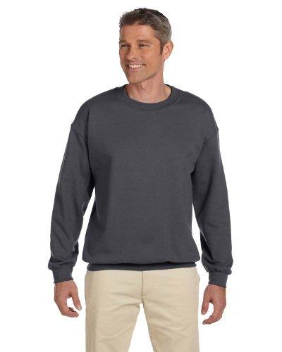 Hanes Men's Ultimate Fleece Crewneck Sweatshirt, Charcoal Heather, XX-Large Poly Crewneck Fleece Sweatshirt