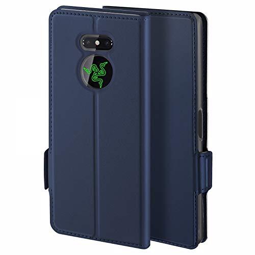 HoneyCase für Handyhülle Razer Phone 2 Hülle Premium Leder Flip Schutzhülle für Razer Phone 2 Tasche, Blau